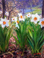 Daffodil Dreaming Oil Painting studio